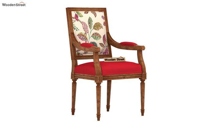Shell Arm Chair (Rosy Leaf)-2