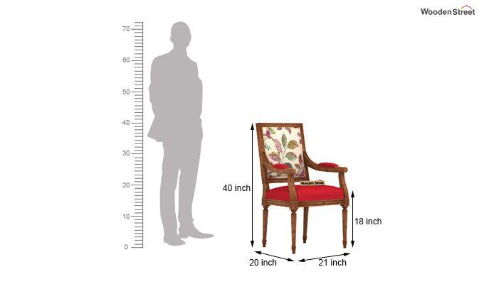 Shell Arm Chair (Rosy Leaf)-4