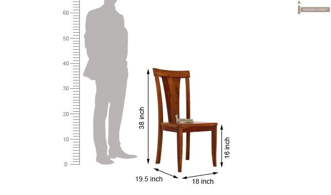 Sofie Dining Chair without Fabric (Honey Finish)-3