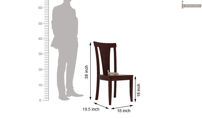 Sofie Dining Chair without Fabric (Mahogany Finish)-3