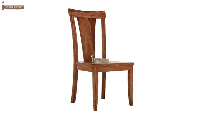 Sofie Dining Chair without Fabric (Teak Finish)-1