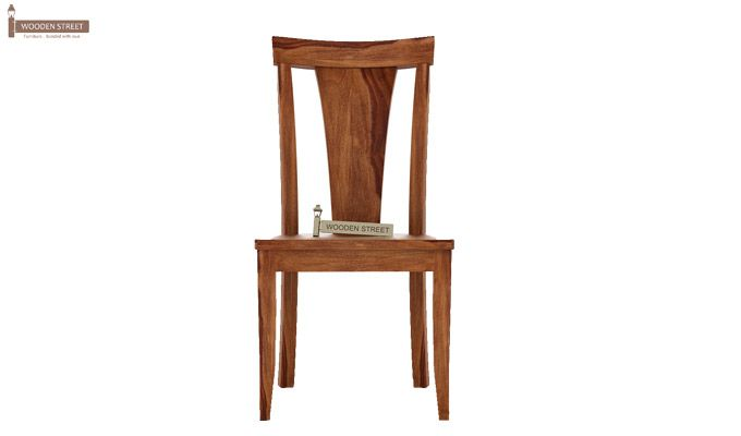 Sofie Dining Chair without Fabric (Teak Finish)-2