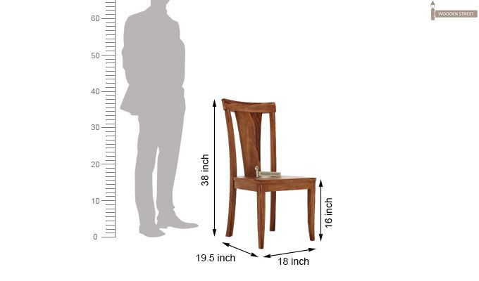 Sofie Dining Chair without Fabric (Teak Finish)-3