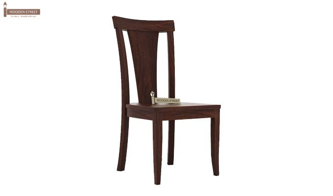 Sofie Dining Chair without Fabric (Walnut Finish)-1
