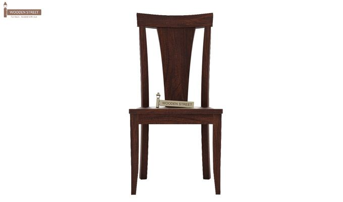 Sofie Dining Chair without Fabric (Walnut Finish)-2