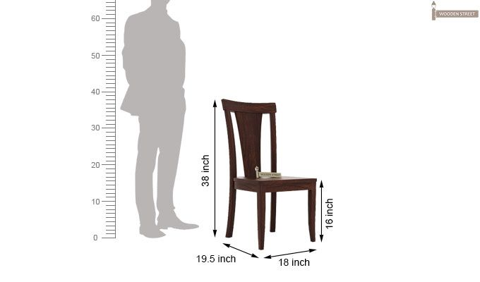 Sofie Dining Chair without Fabric (Walnut Finish)-3