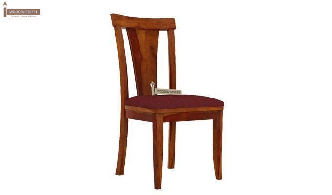 Sofie Dining Chair With Fabric (Honey Finish)-1