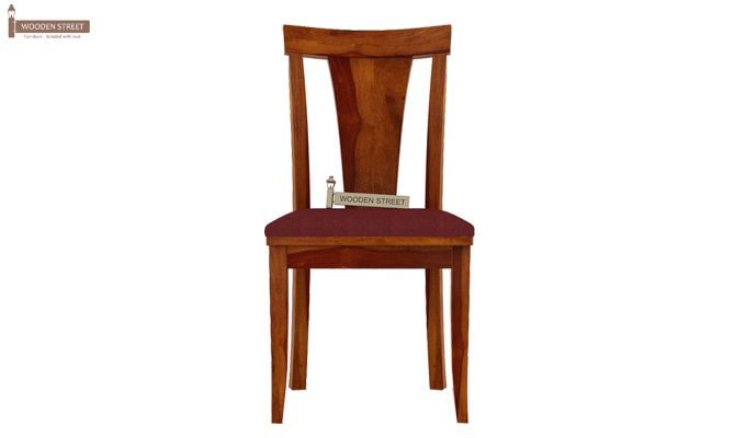 Sofie Dining Chair With Fabric (Honey Finish)-2