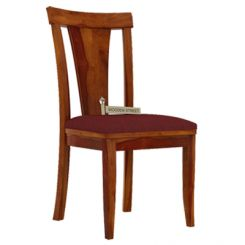 Sofie Dining Chair With Fabric (Honey Finish)