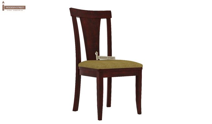 Sofie Dining Chair With Fabric (Mahogany Finish)-1