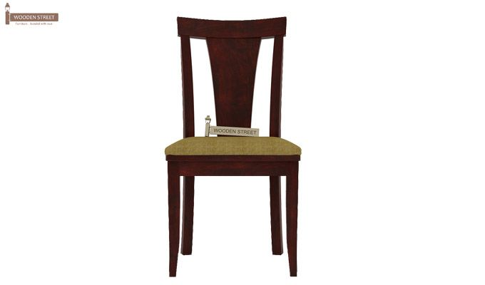 Sofie Dining Chair With Fabric (Mahogany Finish)-2