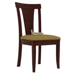 Sofie Dining Chair With Fabric (Mahogany Finish)