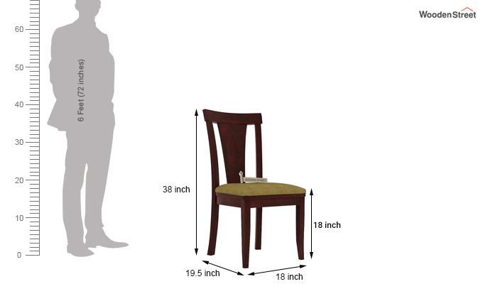 Sofie Dining Chair With Fabric (Mahogany Finish)-3
