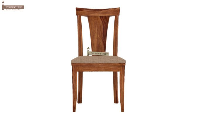 Sofie Dining Chair With Fabric (Teak Finish)-2