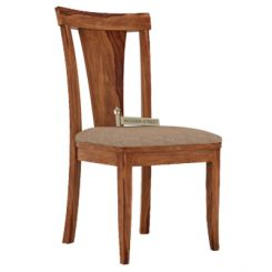 Sofie Dining Chair With Fabric (Teak Finish)