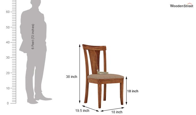 Sofie Dining Chair With Fabric (Teak Finish)-3