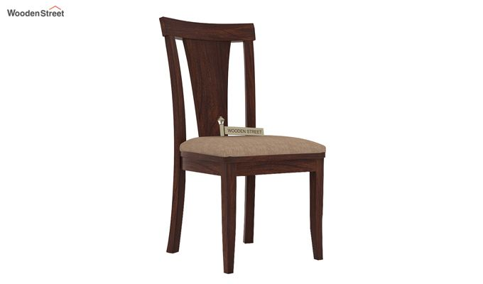 Sofie Dining Chair With Fabric (Walnut Finish)-1
