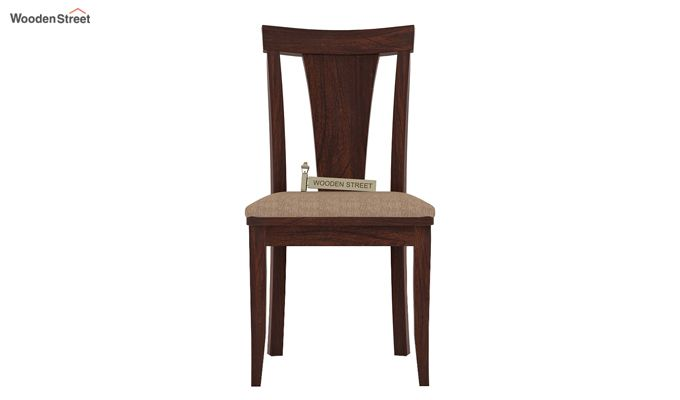 Sofie Dining Chair With Fabric (Walnut Finish)-2