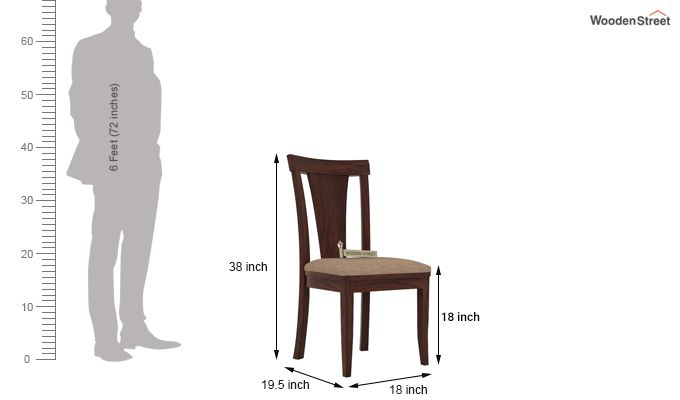 Sofie Dining Chair With Fabric (Walnut Finish)-3