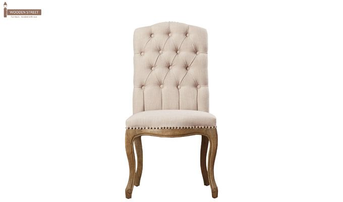 Sullivan Dining Chair (Fabric, Ivory Nude)-2