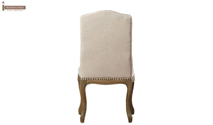 Sullivan Dining Chair (Fabric, Ivory Nude)-4