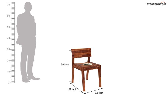 Tancy Dining Chair (Honey Finish)-3
