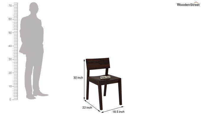 Tancy Dining Chair (Walnut Finish)-3