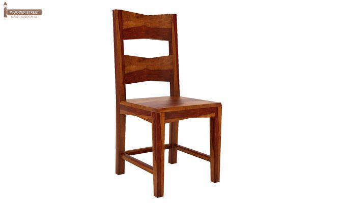 Verina Dining Chair without Fabric (Honey Finish)-2