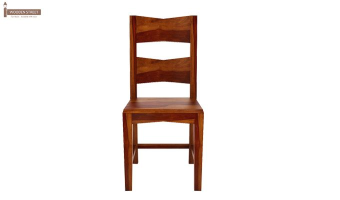 Verina Dining Chair without Fabric (Honey Finish)-3