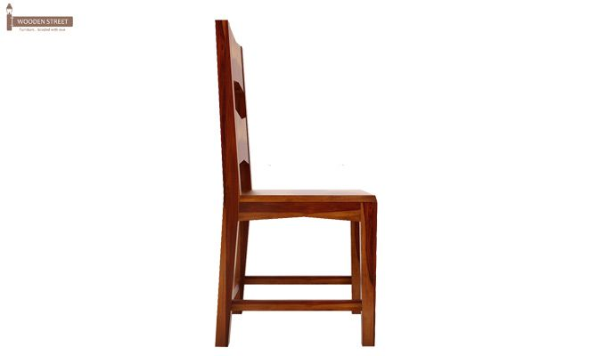 Verina Dining Chair without Fabric (Honey Finish)-4