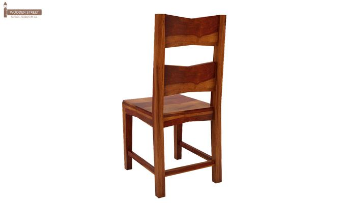 Verina Dining Chair without Fabric (Honey Finish)-5