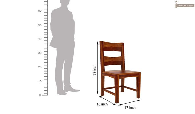 Verina Dining Chair without Fabric (Honey Finish)-6