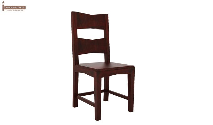 Verina Dining Chair without Fabric (Mahogany Finish)-1