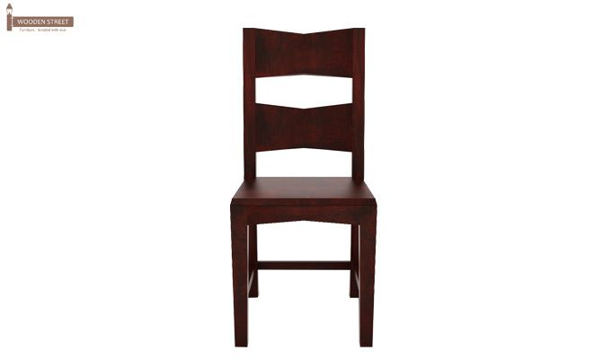 Verina Dining Chair without Fabric (Mahogany Finish)-2