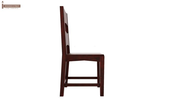 Verina Dining Chair without Fabric (Mahogany Finish)-3