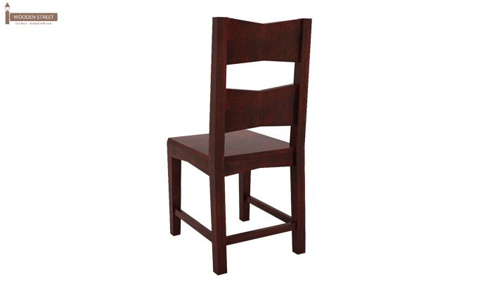 Verina Dining Chair without Fabric (Mahogany Finish)-4