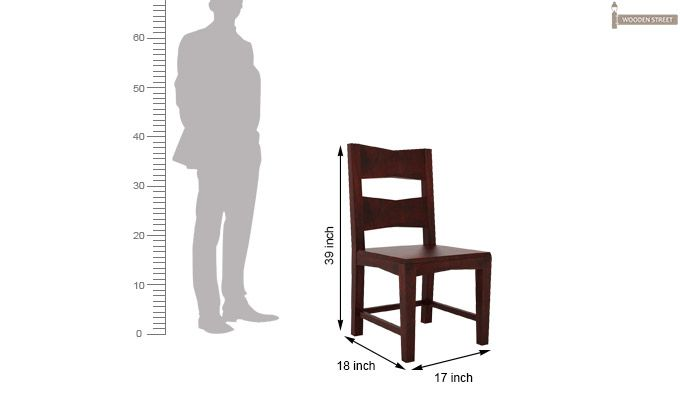 Verina Dining Chair without Fabric (Mahogany Finish)-5