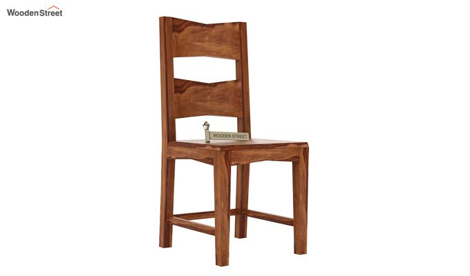 Verina Dining Chair without Fabric (Teak Finish)-1
