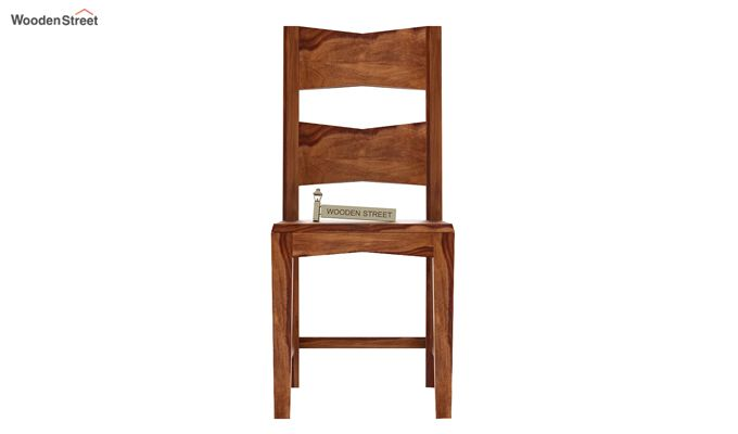 Verina Dining Chair without Fabric (Teak Finish)-2