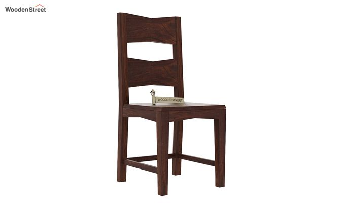 Verina Dining Chair without Fabric (Walnut Finish)-1