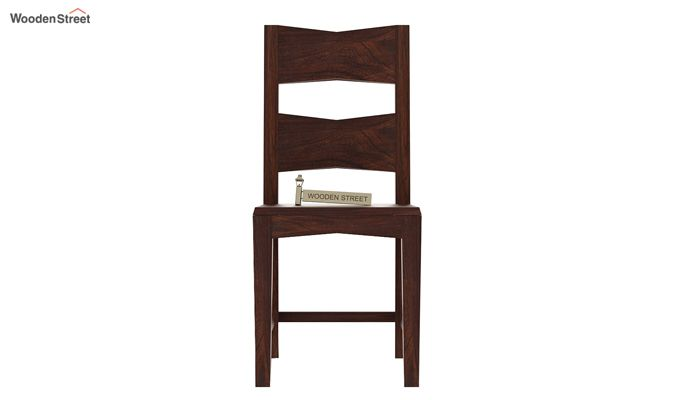 Verina Dining Chair without Fabric (Walnut Finish)-2