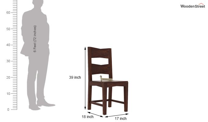 Verina Dining Chair without Fabric (Walnut Finish)-3