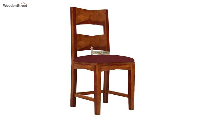 Verina Dining Chair With Fabric (Honey Finish)-1