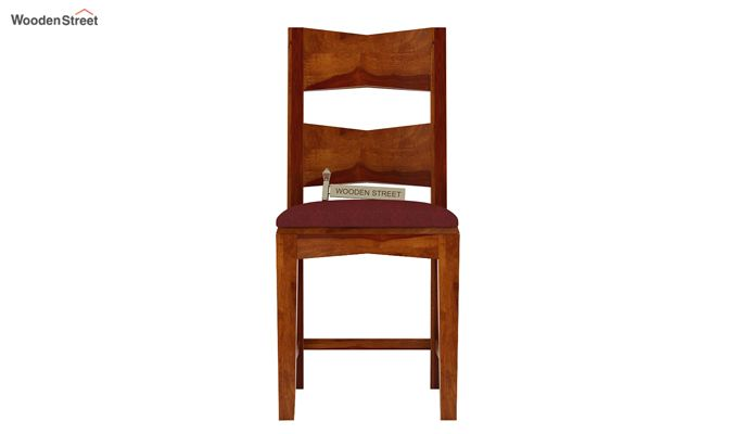 Verina Dining Chair With Fabric (Honey Finish)-2