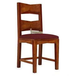 Verina Dining Chair With Fabric (Honey Finish)