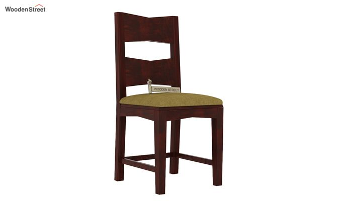 Verina Dining Chair With Fabric (Mahogany Finish)-1