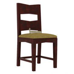 Verina Dining Chair With Fabric (Mahogany Finish)