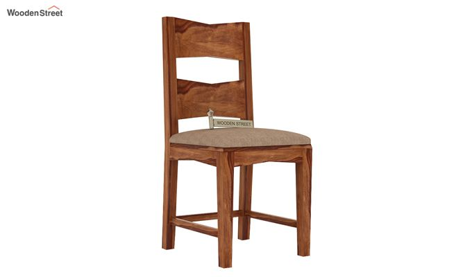 Verina Dining Chair With Fabric (Teak Finish)-1