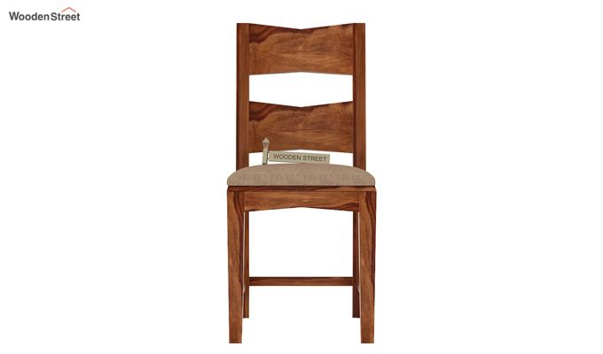 Verina Dining Chair With Fabric (Teak Finish)-2