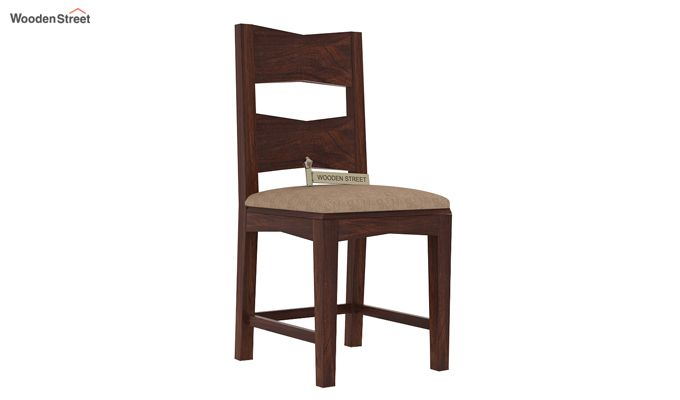Verina Dining Chair With Fabric (Walnut Finish)-1